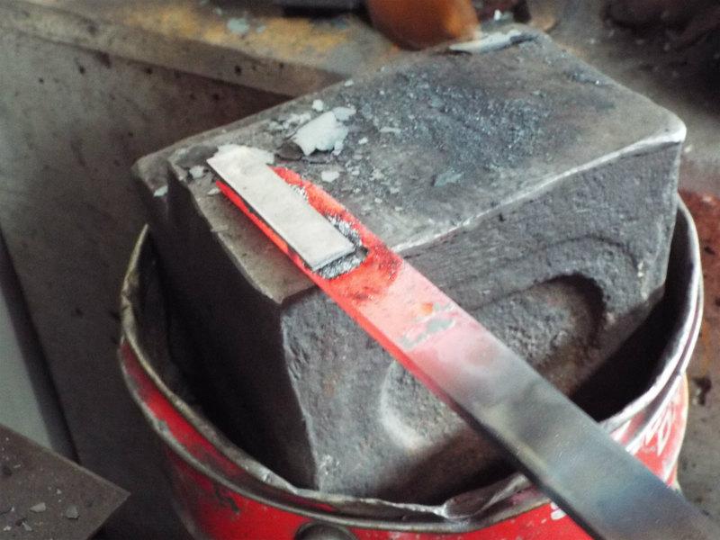 軟鉄と鋼の接合